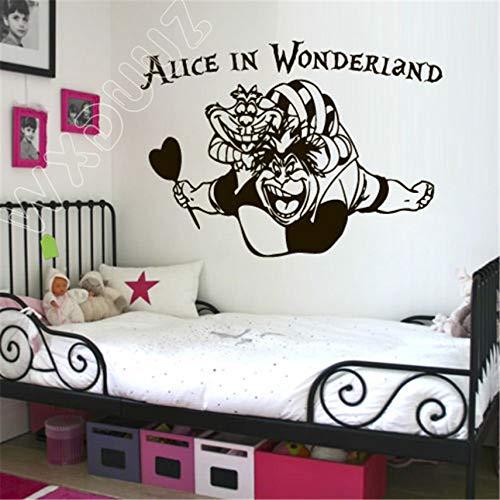 Tatuajes de pared Alicia en el país de las maravillas Conejo Gato Arte Decoración para el hogar Habitación infantil Decoración de la pared 80 x 58 cm