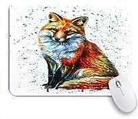 ECOMAOMI 可愛いマウスパッド 狐 滑り止めゴムバッキングマウスパッドノートブックコンピュータマウスマット