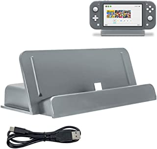 Vikisda Nintendo switch Lite 充電器 卓上ホルダー 急速充電 充電スタンド クレードル充電器 Nintendo switch Lite 充電 グレー