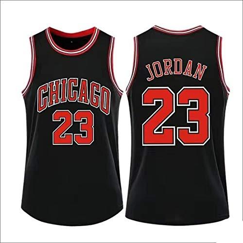 WANZON Retro Gym Transpirable Michael Basketball Jersey Jordan Away Jersey #23 Secado Rápido Chicago Sportswear Bulls Para Hombres - Negro