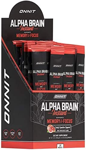 ONNIT Alpha Brain Instant Ruby Grapefruit Flavor Nootropic Brain Booster Memory Supplement Brain product image