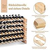 COSTWAY Weinregal Holz, Weinständer für 72 Flaschen, Flaschenregal 6 Höhe zur Auswahl, Holzregal stabil, Weinschrank Flaschenständer - 7