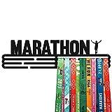 United Medals Marathon Medalla Percha | Acero Recubierto de Polvo Negro (43cm / 48 Medallas) Soporte para Medallas Deportivas