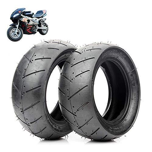 Neumáticos scooter eléctrico, 90/65-6.5/110/50-6.5 Neumáticos vacío, resistentes desgaste antideslizantes, adecuados para neumáticos delanteros traseros autos deportivos pequeños/mini motocicletas 49