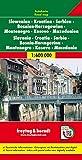 Slowenien - Kroatien - Serbien - Bosnien Herzegowina - Montenegro - Mazedonien, Autokarte 1:600.000: Citypläne. Touristische Informationen. ... (freytag & berndt Auto + Freizeitkarten)