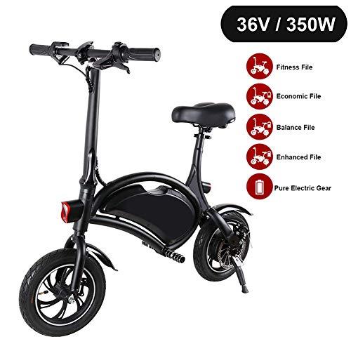 WHYTT Bicicleta eléctrica, Urban Plegable de cercanías E-Bici, Velocidad máxima 25 kmh,...