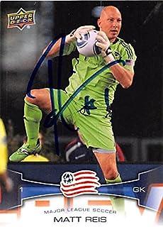 Matt Reis autographed soccer card (New England Revolution MLS) 2012 Upper Deck #110