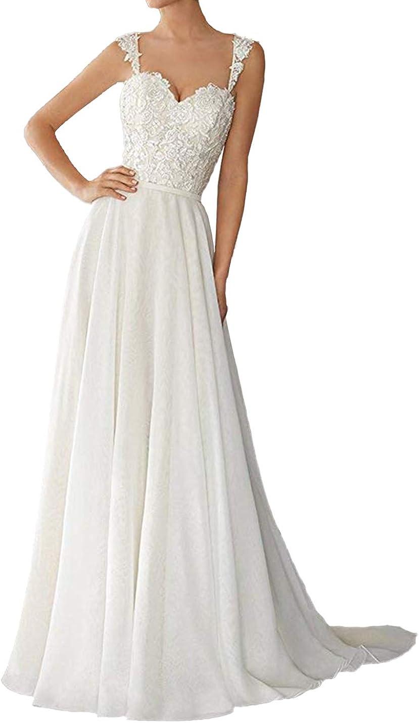 Aline Wedding Dress Lace Bridal Dresses Beach Wedding Dresses Long