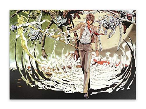 CosplayStudio Cuadro de pared de alta calidad de Death Note sobre placa de espuma dura, póster de 30 x 42 cm, diseño: Light Yagami