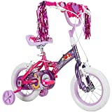 HUFFY Disney Princess Kid Bike 12 inch & 16 inch, Quick Connect Assembly & Regular Assembly,Purple