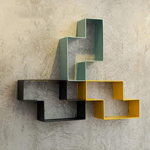Regal Geometrisch Wand Schwimmendes Regal Regal Tetris Shelf Spielzeug An der Wand montiert Zuhause Lagerregal Veranstalter (Farbe : A+B+C)