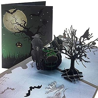Halloween Pop Up Card Halloween Decor 3D Card H...