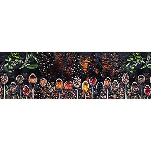 Tappeto PRINTY - Tappeto multiuso antiscivolo per ingresso, cucina, camera, bagno - Lavabile in lavatrice - 50x300 cm