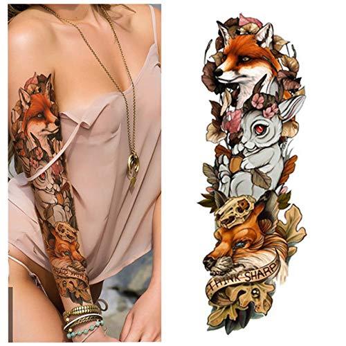 Handaxian 3 Piezas Brazo Completo Doble Pistola Femenina Tatuaje ...