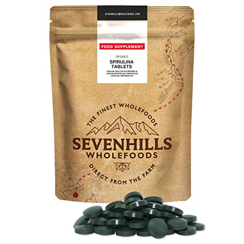 Sevenhills Wholefoods Espirulina Comprimidos Orgánico 250g (500 x 500mg)