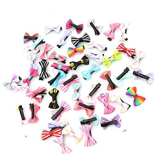 Aofocy Premium 50 pcs Bowknot Papillon Ruban Fleur Bébé Épingles À Cheveux Mini Cheveux Barrettes Pin pour Bébé Filles Enfants Enfants Cheveux Accessoires
