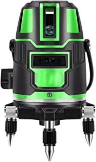 セルフレベリンググリーンビームレーザーレベル水平垂直クロスラインレーザーレベラーツール建設用天井タイル画像ハンギングフレーミング壁キャビネット三脚付き(Size:Green light 2 lines)