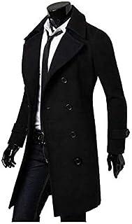Autumn And Winter Men's Trench Coat Double-Breasted Casual Warm Comfort Slim Woolen Coat