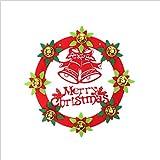 cczxfcc 2 Unidades Decoración Navideña Guirnalda De Navidad Puerta Colgante Hotel Shopping Mall Ventana Colgante De Navidad Árbol De Navidad Corona No Tejida Colgante 33 Cm