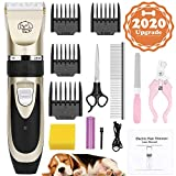 AerWo Dog Clippers Pet Grooming Clipper, Upgraded Low Noise Dog Cat Hair Trimmer Cutter, USB Rechargeable Shavers Electrical Pet Professional Grooming Machine Tool