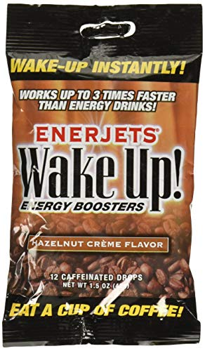 Enerjets Wake Up Energy Booster Drops, Hazelnut Creme Flavor - 12 Caffeinated Drops/Pack,(Pack of 12)