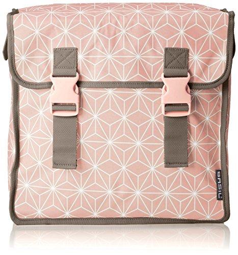 Basil Gepäckträgertasche Star-Double Bag Fahrradtasche, Rose, 35 x 15 x 40 cm