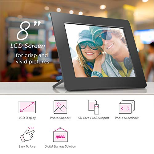 Aluratek 8 Inch LCD Digital Photo Frame Product Image