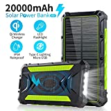 Best Solar Chargers - Solar Charger, 20000mAh Qi Wireless Power Bank Portable Review