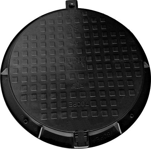 Schachtabdeckung, Zisternendeckel, Schachtdeckel, Gullydeckel, Belastung bis 1,5 t, 780 mm, Schwarz