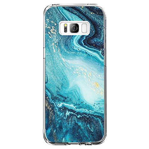 Vanki Cover Samsung Galaxy S8 Plus, Galaxy S8 Plus Custodia Morbida di TPU Cristallo Trasparente Sottile Bordo Proteggi Copertura Completa (Fiori di Ciliegio) (Samsung Galaxy S8 Plus, 19)