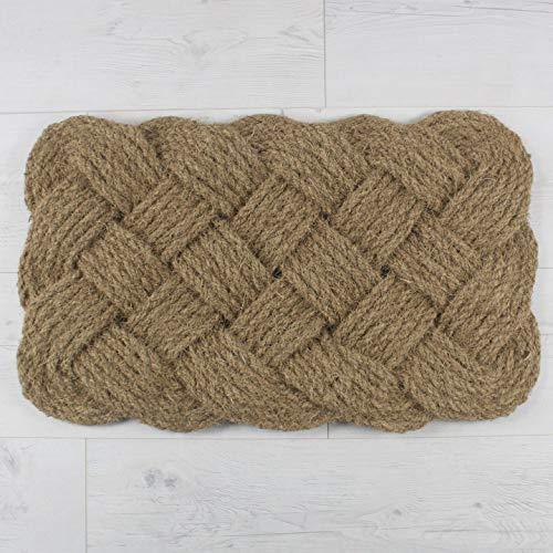 Maine Furniture Co M900140 - Felpudo con Cuerda Anudada, Color marrón