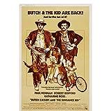Qwgykr Butch Cassidy Y El Sundance Kid Película Vintage Art Print Poster Decoración Para El Hogar Impresión En Lienzo-50X70Cm Sin Marco