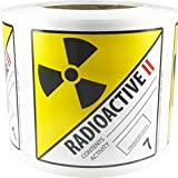 Hazard Class 7 D.O.T. Radioactive II Labels 4x4 Inch Square 500 Adhesive Labels...