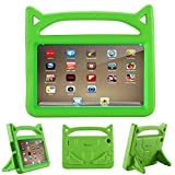 All-New Fire 7 2017 Case,Riaour Kids Shock Proof Protective Cover Case for Amazon Fire 7 Tablet (Compatible with 5th Generation 2015 / 7th Generation 2017) (Green)