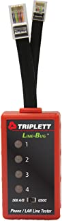 Triplett Line-Bug 4 Telephone and LAN Line Tester - Detect Damaging Currents on RJ11 and RJ45 Lines (9615)