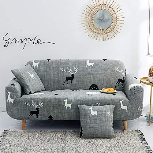 ASCV Blumen Bedruckte Schonbezüge Stretch Plaid Sofabezüge für Wohnzimmer Elastic Couch Stuhlbezug Sofa Handtuch Home Decor A3 1-Sitzer