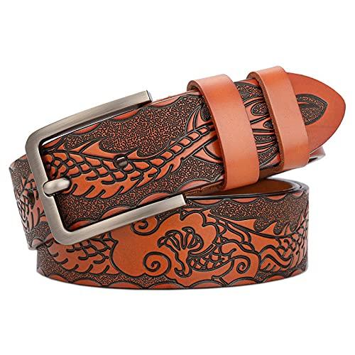 ZPMY Cinturón, cinturón de hombre multifunción, cinturón de proceso tallado de material de cuero