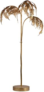 DIEFMJ Lampadaire rétro de Style européen dans Le Salon, Concepteur de lampadaire en Palmier doré en Fer forgé adapté à la...
