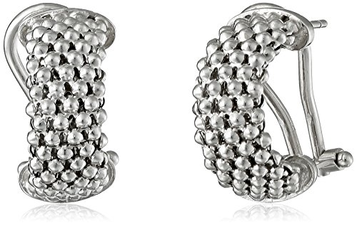 Rhodium-Plated Mesh Earrings by Media Imports