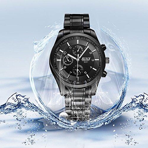 『ZDTech 腕時計 クロノグラフ デイト クォーツムーブメント 海外モデル メンズ ウォッチ (ブラック)』の5枚目の画像
