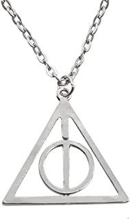 Zchiko Harry Potter Deathly Hallows Necklace. Silver