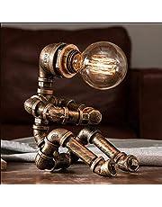 Industriële retro Edison tafellamp E27, fitting van metaal, antiek, bedlampje, decoratief, voor restaurant, café, bar, werkplaats, woonkamer, slaapkamer