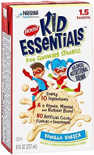 BOOST Kid Essentials 1.5 Balanced Nutritional Drink for Children, Vanilla Vortex, 8 fl oz (Pack of 27)
