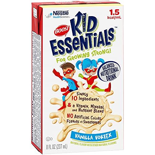 Price comparison product image BOOST Kid Essentials 1.5 Balanced Nutritional Drink for Children,  Vanilla Vortex,  8 fl oz (Pack of 27)