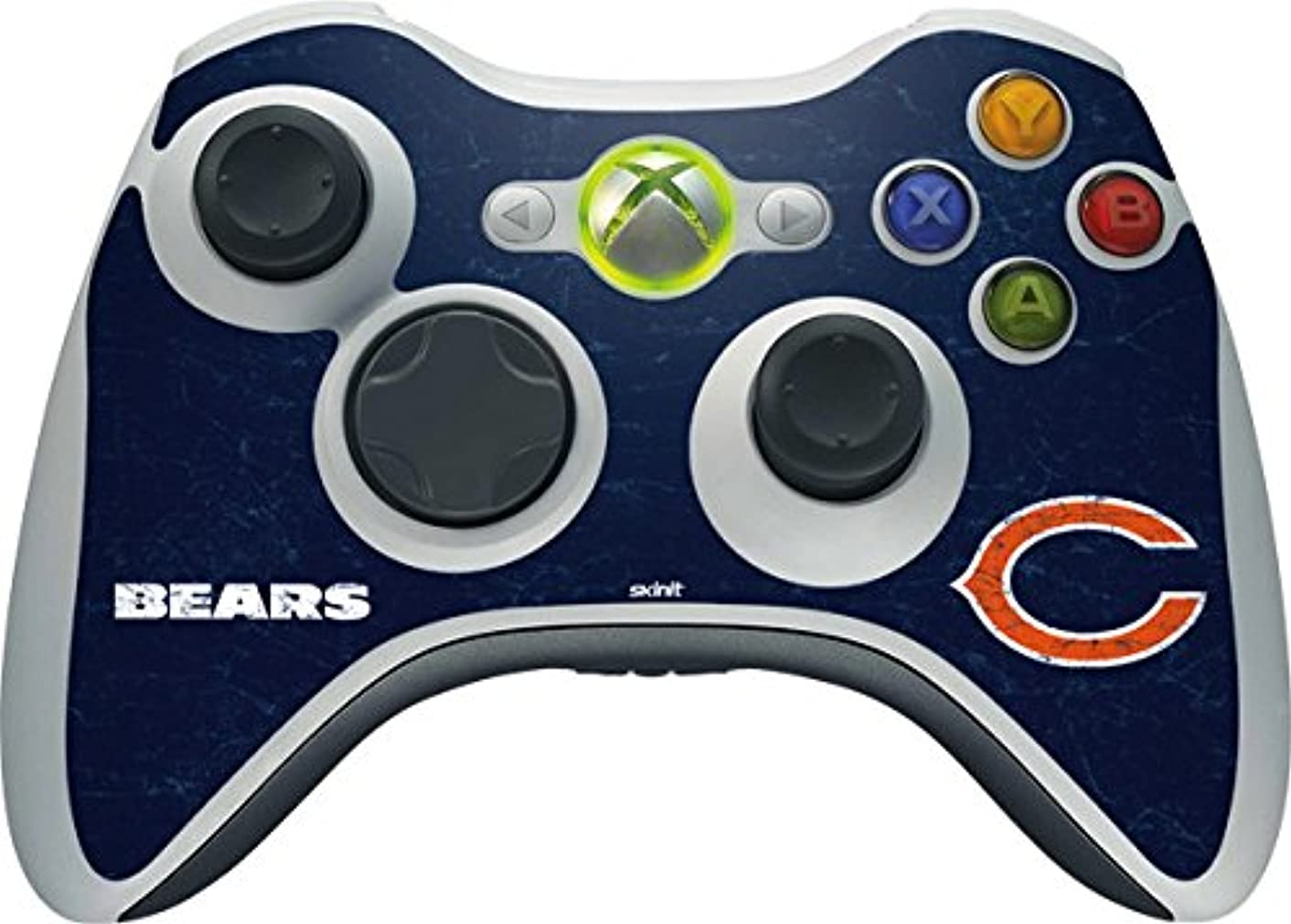 Skinit NFL Chicago Bears Xbox 360 Wireless Controller Skin - Chicago Bears Distressed Design - Ultra Thin, Lightweight Vinyl Decal Protection