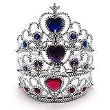 Xiuyer Tiara Corona de Princesa, Conjunto de 9 Crown Accesorios Regalos Fiesta Cumpleaños Juegos de rol Decoración(Púrpura Azul Real y Rosa Roja)