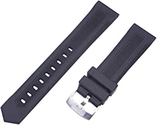 g24 20mm Rubber Strap Band for Tag Heuer 300 Aquaracer Caf2010 Way111Z Black (No Marking or Logo)