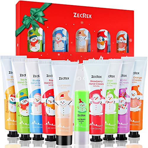 Hand Cream,Hand Lotion,10 Packs Travel Size Hand Cream Gifts Set For Dry Cracked Aging Working Hands w/Lip Balm&Foot Cream,Unique Stocking Stuffers,Christmas Gifts for Women Mom Girls Her Wife Grandma