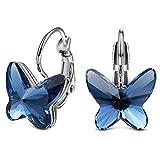 ELEGANCE PARISIENNE Boucles d'oreilles'The Blue Butterfly' P