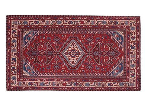 HomeLife Lot de 3 tapis de style persan / oriental, en coton, pour salon, chambre à coucher, séjour, avec fond antidérapant, impression numérique d